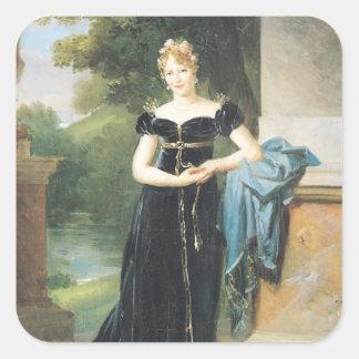 Marie Laczinskaの伯爵婦人Walewskaのポートレート スクエアシール