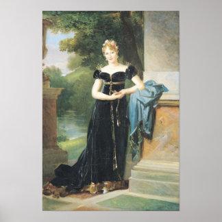 Marie Laczinskaの伯爵婦人Walewskaのポートレート ポスター
