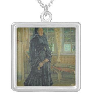 Marie Zachariasの雨の日1904年 シルバープレートネックレス