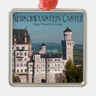 Marienbrücke -英語からの城ノイシュヴァンシュタイン城 シルバーカラー正方形オーナメント