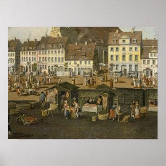 Marienkircheのベルリンの新市場 ポスター