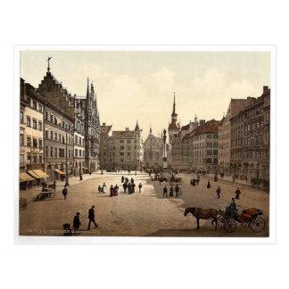 Marienplatz、ミュンヘンのババリア、壮麗なドイツ ポストカード