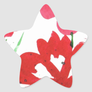 Marimekkoの擬似花 星シール