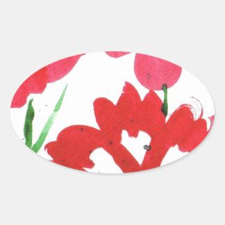Marimekkoの擬似花 楕円形シール