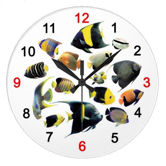 Marine Angelfishの掛け時計 ラージ壁時計