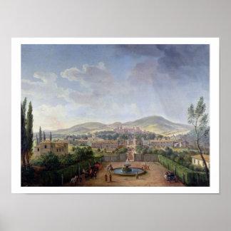 Marino 1719年の眺め(キャンバスの油) ポスター