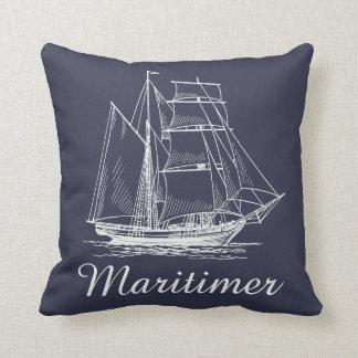 Maritimerの帆船のノバスコシアの枕青 クッション