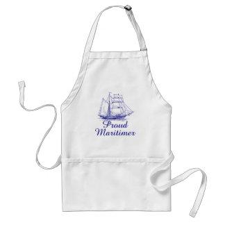 Maritimerの帆船のノバスコシアの誇りを持ったなエプロン スタンダードエプロン