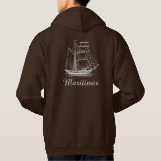 Maritimerの航海のな帆船のボートのセーター パーカ