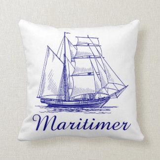 Maritimerの   帆船のノバスコシアの枕 クッション