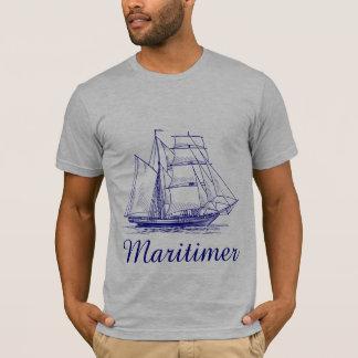 Maritimer航海のな航海のノバスコシアの上 Tシャツ