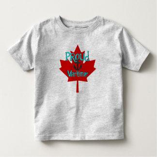 Maritimer誇りを持ったなカナダのワイシャツノバスコシア トドラーTシャツ