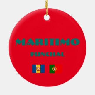 Maritimoマデイラのサッカーの円のオーナメント セラミックオーナメント