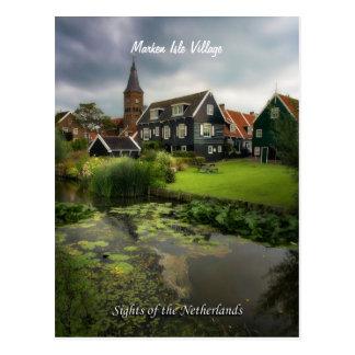 Markenの村、オランダの視力 ポストカード