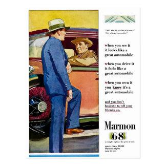 Marmon 68 -ヴィンテージの自動車広告 ポストカード