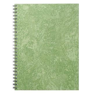 Marmorinoの緑の模造のな終わり ノートブック