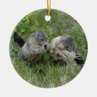 Marmotsのオーナメント セラミックオーナメント
