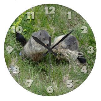 Marmotsの柱時計 ラージ壁時計