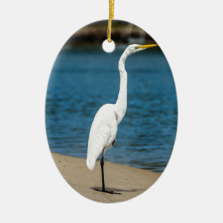 Maroochydoreのオーストラリアの白鷺 セラミックオーナメント