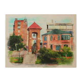 Marquetteミシガン州市 ウッドウォールアート