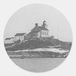 Marquette港の灯台2 ラウンドシール