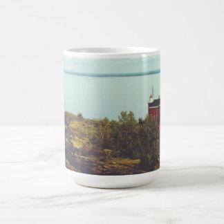 Marquette港の灯台 コーヒーマグカップ