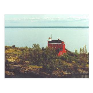 Marquette港の灯台 ポストカード