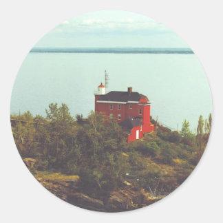 Marquette港の灯台 ラウンドシール