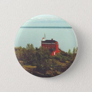 Marquette港の灯台 5.7cm 丸型バッジ