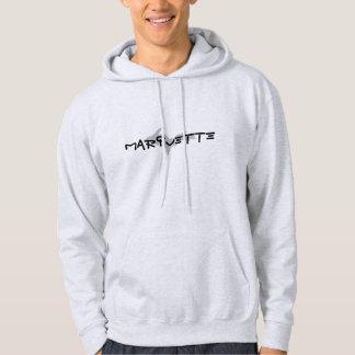 """""""Marquette""""の灰は上部半島のフード付きスウェットシャツを着色しました パーカ"""
