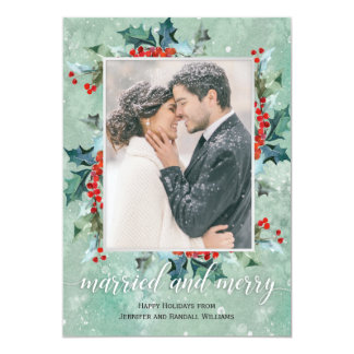 Married and Merry Holiday Greenery カード