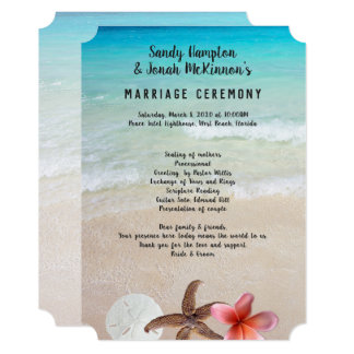 Married By the Sea Short Beach Ceremony Program カード