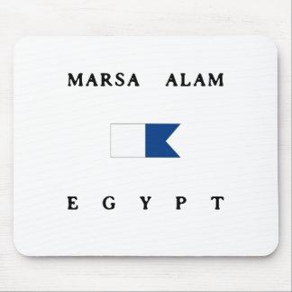 Marsa Alamエジプトのアルファ飛び込みの旗 マウスパッド