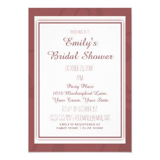 Marsalaのワインのエレガントなヴィンテージの花柄のブライダルシャワー カード