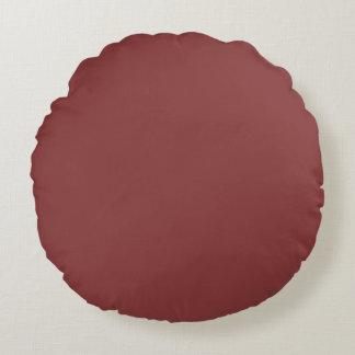 Marsalaの美しいテラコッタ赤い陰 ラウンドクッション