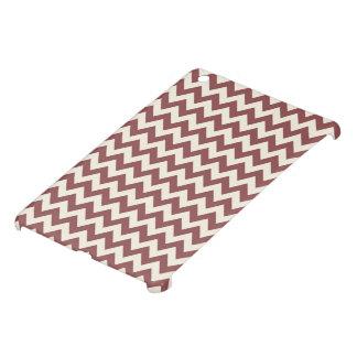 Marsalaクリーム色ベージュシェブロンのパターン iPad Mini カバー