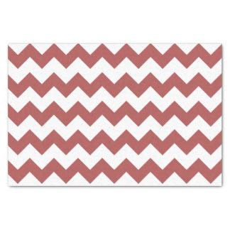 Marsala白いシェブロンのパターン 薄葉紙