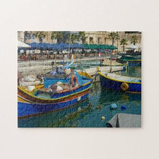 Marsaxlokkはボートを絵を描きました ジグソーパズル