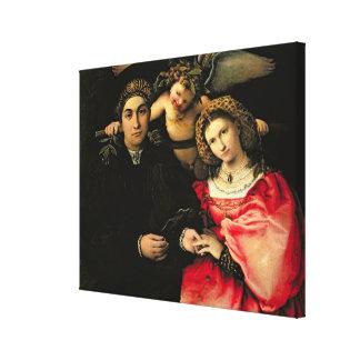 Marsilio Cassottiおよび彼の妻、Faustina Signor キャンバスプリント