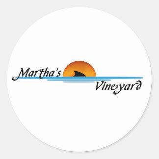 Marthasのブドウ園の鮫 ラウンドシール