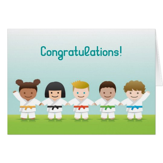 Martial Arts World Kids Congratulations Card カード