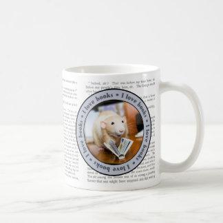 Martyのマウスは文字が付いているマグを読むことを愛します コーヒーマグカップ