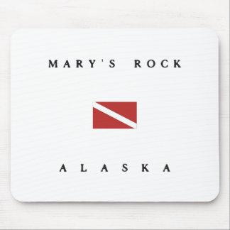 Marysの石のアラスカのスキューバ飛び込みの旗 マウスパッド