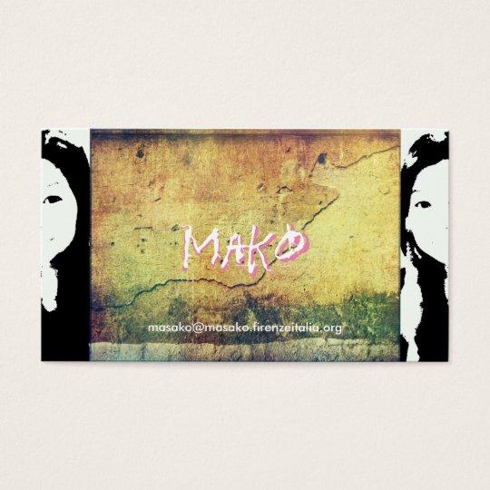 Masako Hara Mako 名刺