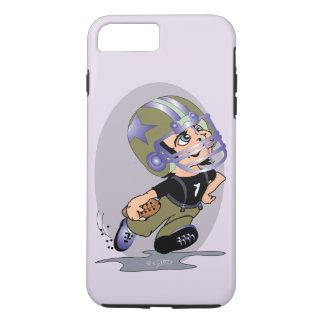 MASCOTTEのフットボールの漫画の穹窖の堅いiPhone T iPhone 8 Plus/7 Plusケース
