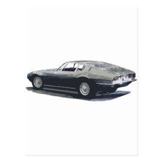 Maserati Ghibliのクラシックなスケッチ ポストカード