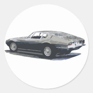 Maserati Ghibliのクラシックなスケッチ ラウンドシール