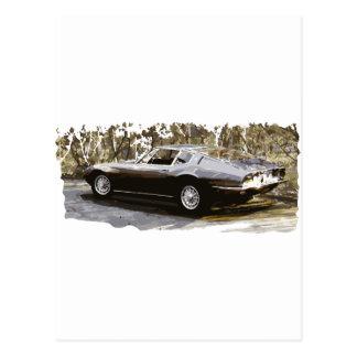 Maserati Ghibliのクラシック ポストカード