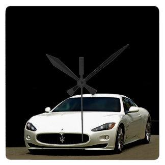 Maserati GranTurismoの時計 スクエア壁時計
