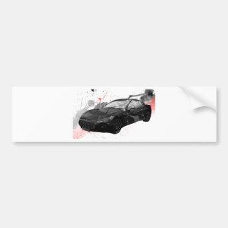 maserati gt車のイラストレーション バンパーステッカー